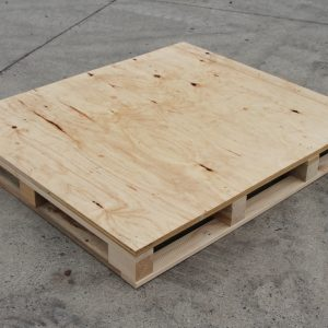 4 Way plytop export pallet, export pallet, Marshall Pine, Timber Solutions, Export Timber Packaging