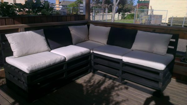 Custom Made Pallet Furniture in Geelong, Timber Pallet Lounge, Marshall Pine, Timber Solutions
