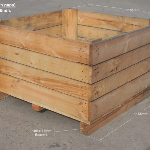 1165 x1165 x 610mm Bin (with gaps) produce bins